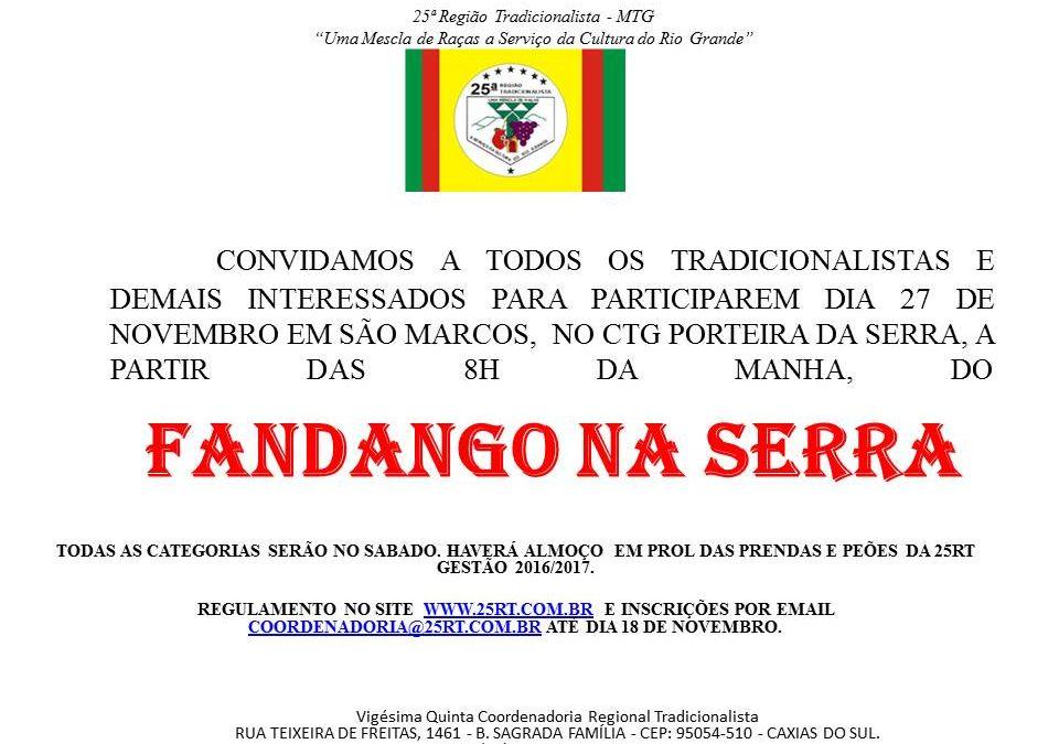 Fandango da Serra 2016