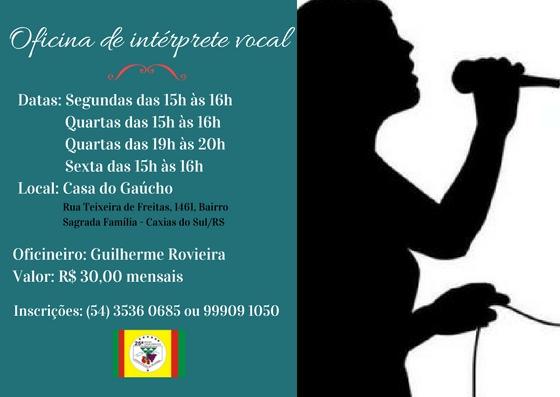 Oficina de intérprete vocal