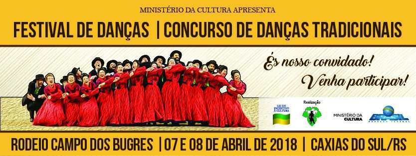 Festival de Danças Tradicionais, do CTG Campo dos Bugres, está com inscrições abertas até 04 de abril
